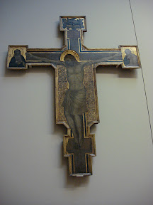 Painted Cross - Giotto (probably).  This could have been done by a student of Giotto's, but some historians attribute it to him.