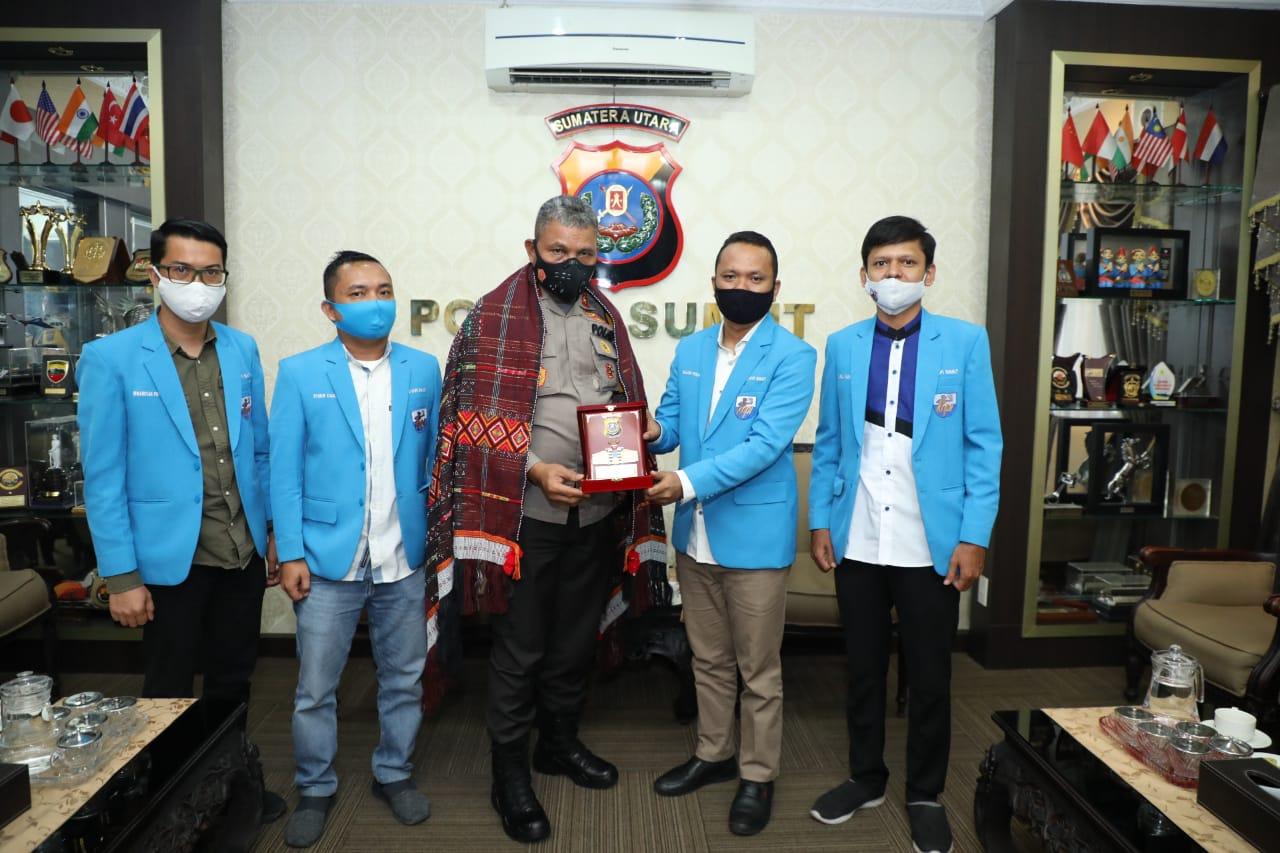 Kapolda Sumut Silaturahmi Dengan KNPI Provinsi Sumut