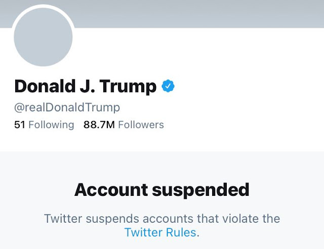 Twitter permanently suspends President Trump's account!