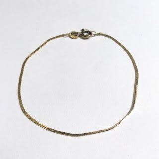 14K Gold Flat Chain Bracelet