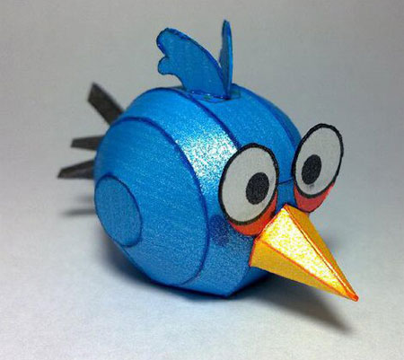 Blue Angry Birds Papercraft