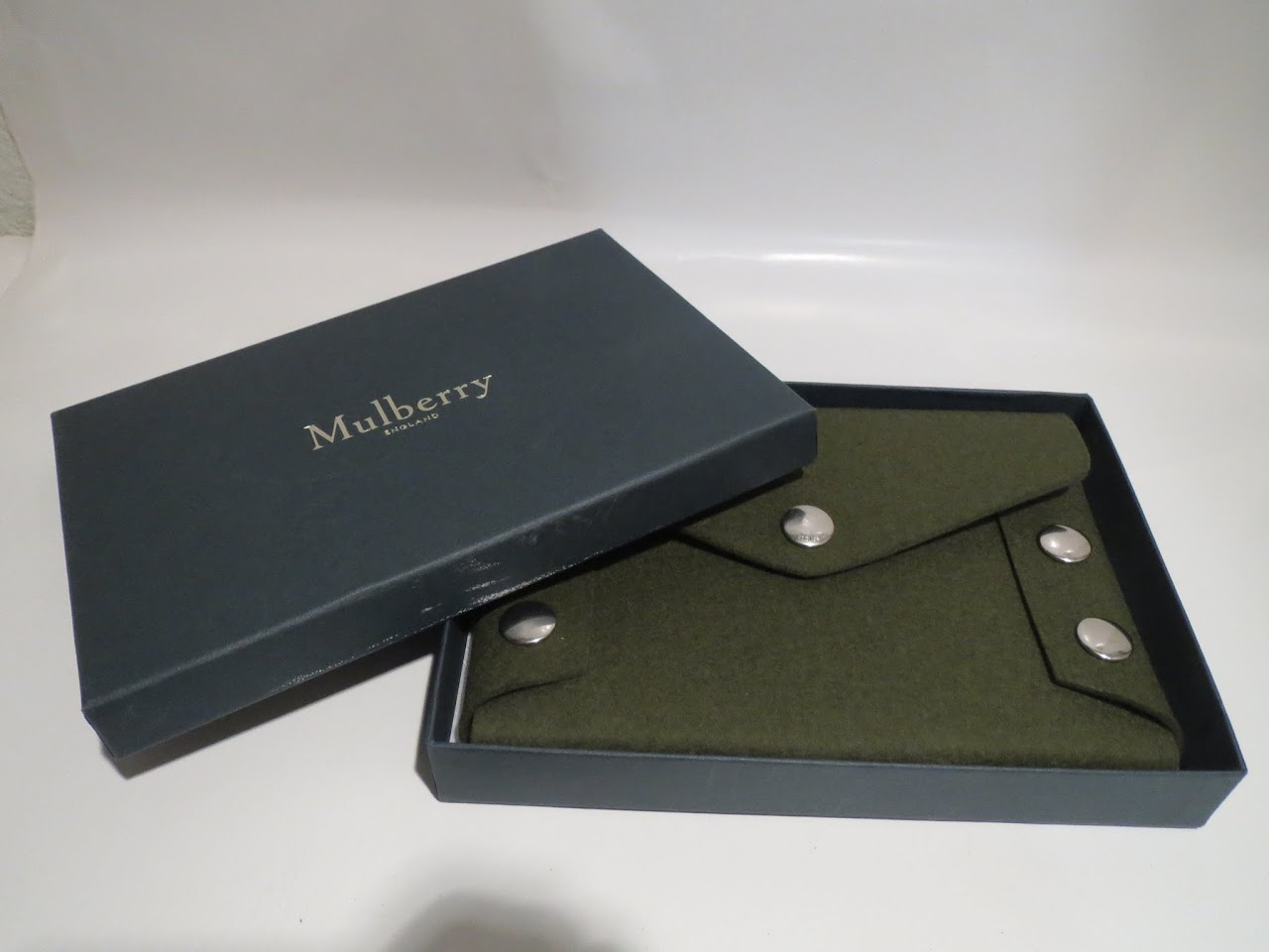 Mulberry Military Green Wool Pochette