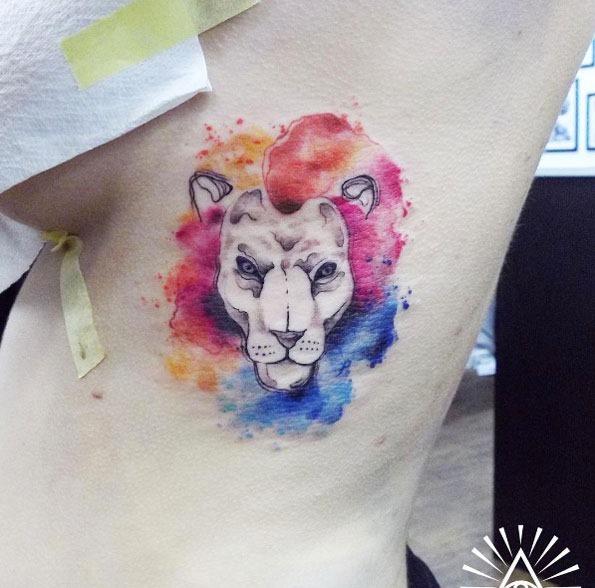 Esta aquarela leão