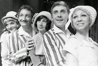 In the chorus of The Boy Friend by Sandy Wilson. We worked with original broadway cast members who now played the older roles.The Broadway show introduced Julie Andrews to America and also Millicent Martin, who I later starred with alongside Mariska Hargitay in the CBS series DOWNTOWN. Meadowbrook Theater 1971