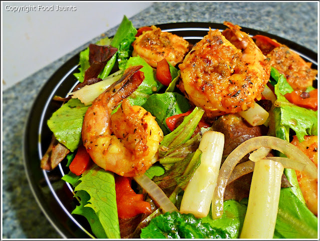 Spanish Shrimp Asparagus Tomato Onion Roasted Red Pepper Lettuce