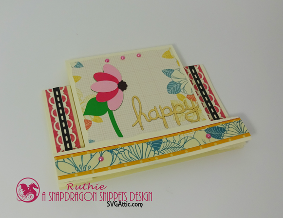 SnapDragon Snippets, Mothers Day Flower Step Card, Ruthie Lopez. 3