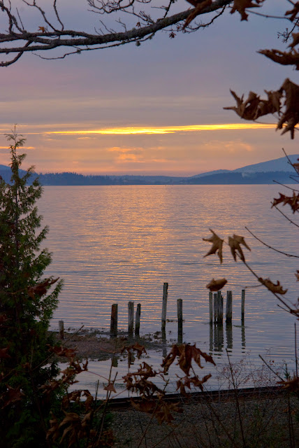 Rainy sunset over Chuckanut BayCredit: Jesse Kinsman