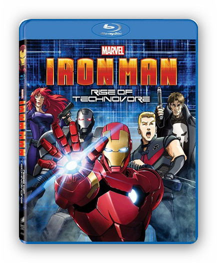 Iron Man. Rise of the Technovore [BDRip 1080p][Dual AC3.DTS][Anime][2013]