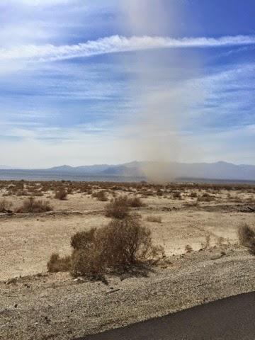 dust devil storm Salton Sea California
