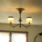 Light fixture in the original part of the house