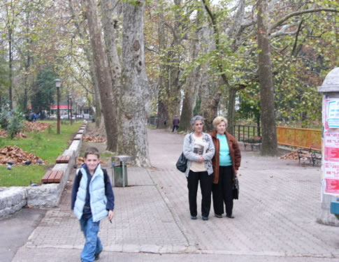 Bihac - promenade along the river