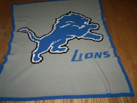 Kendra s Crocheted Creations  Detroit Lions graph 9a6699b7647f