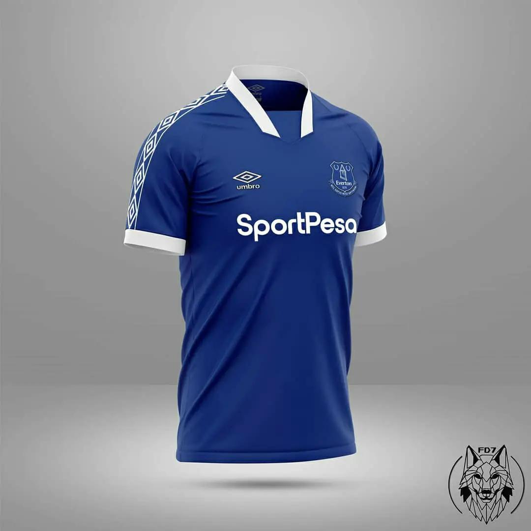 Desain Konsep Jersey Everton musim 2020/2021 - Home Away & Third