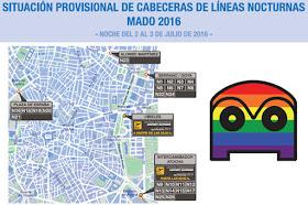 Cambios en los autobuses EMT por el Orgullo Gay 2016