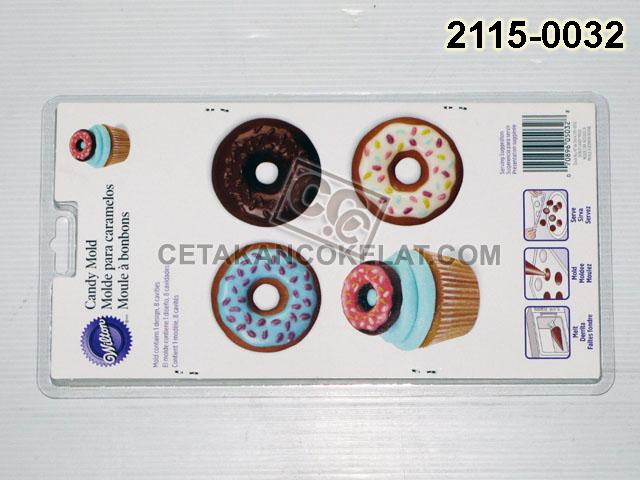Cetakan Coklat cokelat doughnut 2115-0032 Wilton Donut Donat
