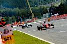Fernando Alonso leads Nico Rosberg