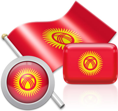 Kyrgyzstani flag icons pictures collection