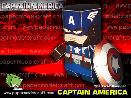 Captain America Paper Toy v2