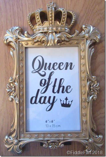 Queen of The Day Frame