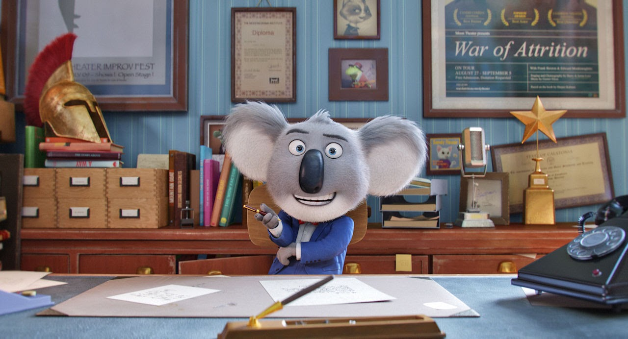 Buster Moon (voiced by Matthew McConaughey) in SING. (Photo courtesy of Illumination Entertainment and Universal Pictures).