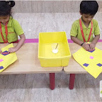 Introduction to Diamond Shape by Nursery Evening Section at Witty World, Chikoowadi (2017-18)