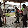 Polsek Kuindra Laksanakan Protokol Kesehatan di Pelabuhan Sapat