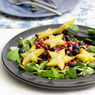 Carambola, Blueberry and Pomegranate Salad