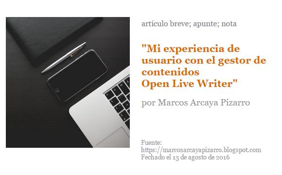 Marcos Arcaya Pizarro, gestor de contenidos
