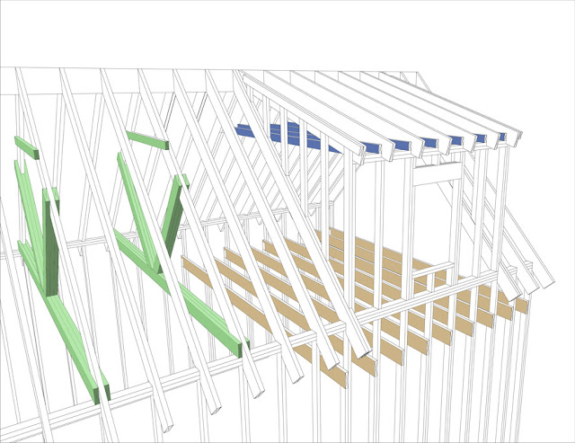 Rafter dormer spreading questions for Dormer window construction drawings