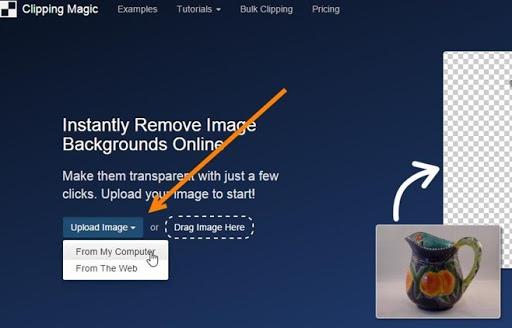 Modificare lo sfondo delle foto online