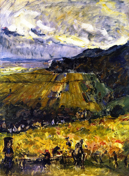 Max Slevogt - Grape Harvest at Neukastel, 1916