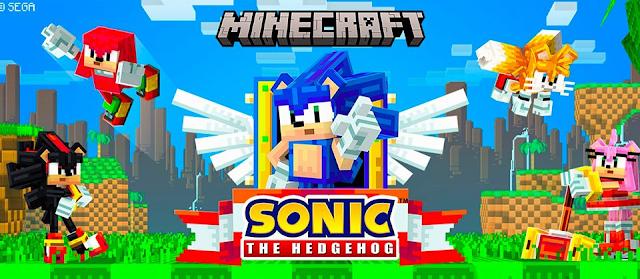 Sonic y Minecraft celebran el 30 aniversario de Sonic con un nuevo DLC