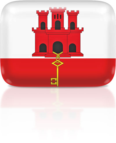 Gibraltar flag clipart rectangular
