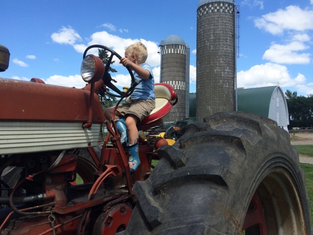 Clark on tractor