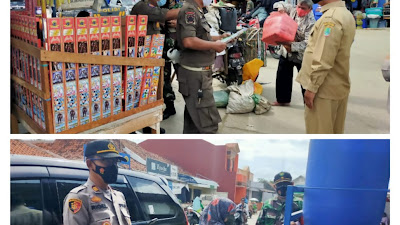 "Muspika - Aparat Tempuran ""Rame-Rame"" Monitor Prokes Pasar Turi"
