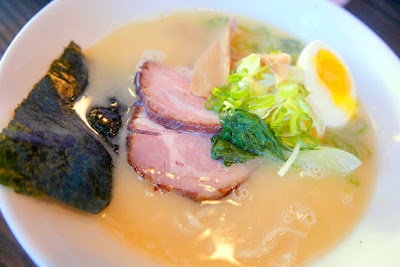 Marukin Ramen, the famous Marukin broth uses a unique, rich, creamy chicken based broth also known as paitan.