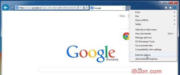 Ảnh mô phỏngGỡ bỏ hoàn toàn WebSearch Toolbar và WebSearch.com - Internet-Options-Internet-Explorer