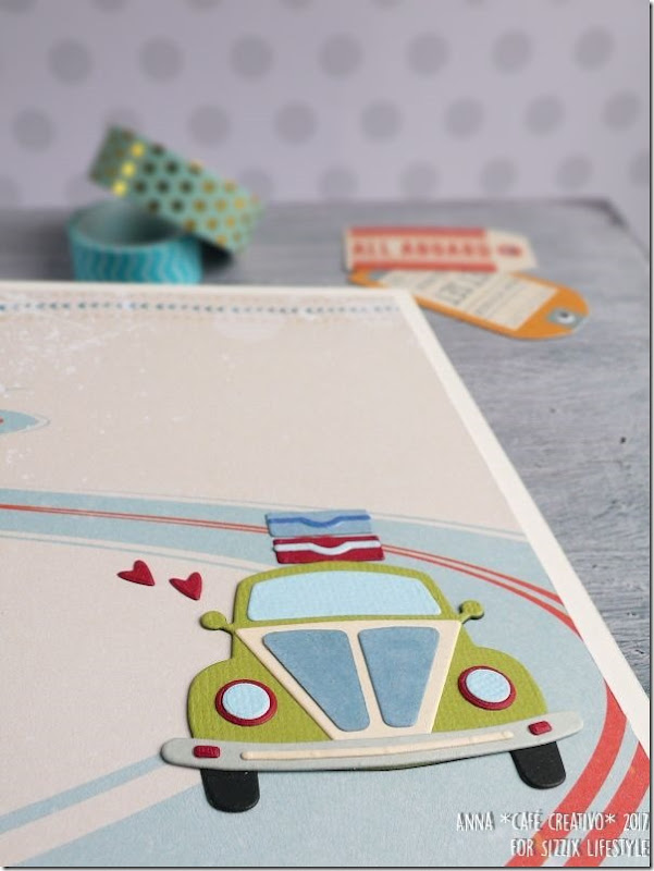 Mini Album Open Road con Big Shot e Fustella Sizzix