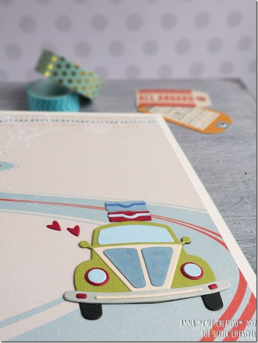 Cafe Creativo: [#Sizzix Big Shot] Scrapbooking Mini Album Open Road