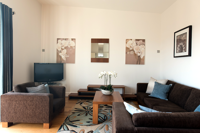 Bright living space at Hamiltons Apartments