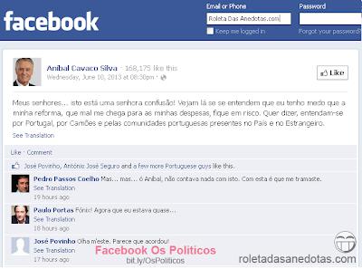 Mensagem privada no Facebook de Cavaco Silva para Passos Coelho a declinar remodelação do Governo