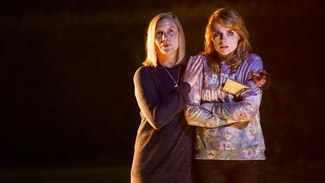 Katee Sackhoff and Lucy Boynton in Dont Knock Twice