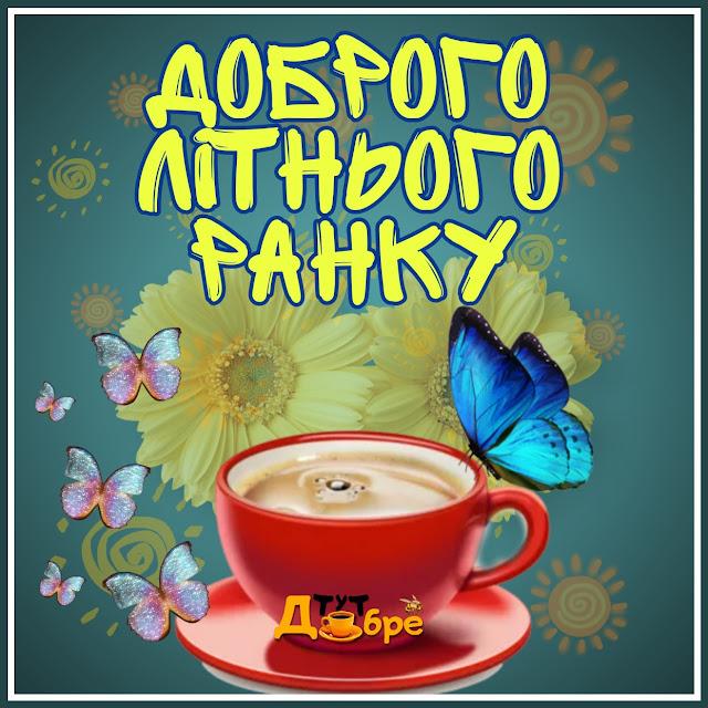 Доброго літнього ранку гарного дня