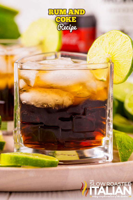 Rum and Coke Recipe with limes