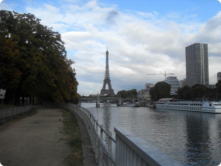 Eiffeltårnet fra Ille de Cygnes, Paris