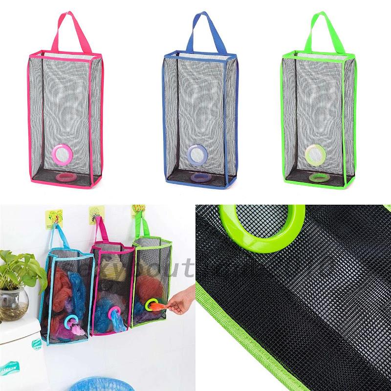 1 PC Plastic Organizer Breathable Mesh Garbage Bags