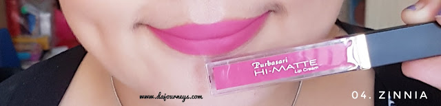 Review Purbasari Hi-Matte Lip Cream Zinnia