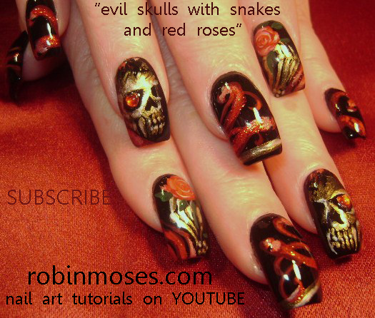 Nail Art By Robin Moses Doing Nails With Eyeshadow Nail Art With