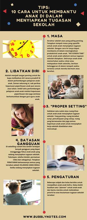 10 Cara Untuk Membantu Anak Di Dalam Menyiapkan Tugasan Sekolah 2