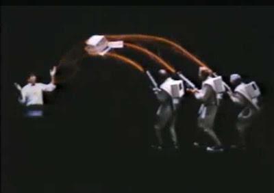 Apple parodia a Los Cazafantasmas en un vídeo de 1984